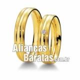 Alianças baratas de  noivado 18k