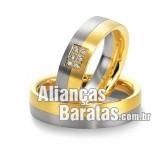 Alianças baratas de noivado em ouro 18K