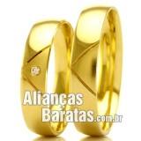 Alianças baratas de casamento 4.5mm em ouro
