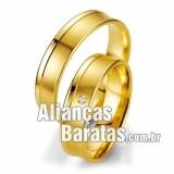 Alianças baratas de noivado e casamento 18k 750