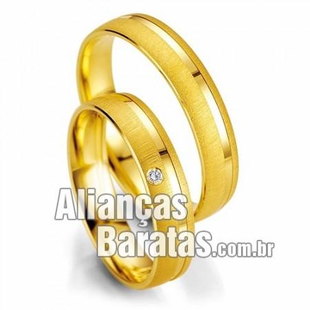 Alianças baratas de noivado e casamento 18k