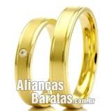 Alianças baratas  em ouro 18k para casamento