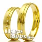 Alianças baratas em ouro 18k noivado e casamento