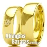 Alianças  baratas em ouro para casamento