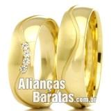 Alianças baratas de casamento apaixonados