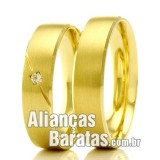 Alianças baratas em ouro 18k