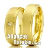 Alianças baratas para casamento e noivado