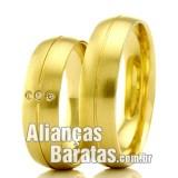 Alianças baratas para casamento em ouro