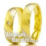 Alianças baratas em ouro 18k 750