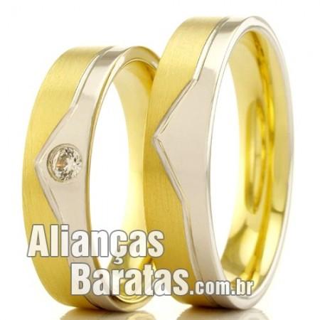 Alianças em ouro amarelo e branco 18k 5mm