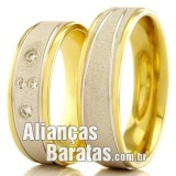 Alianças baratas de ouro 18k