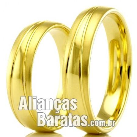 Alianças baratas de ouro