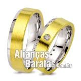 Alianças baratas em ouro 6mm lisas