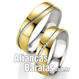 Alianças baratas ouro e prata com pedras semi preciosas