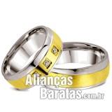 Alianças baratas de noivado e casamento em ouro e prata