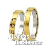 Alianças baratas de noivado e casamento ouro 18k e prata