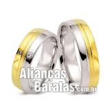 Alianças baratas em ouro e prata