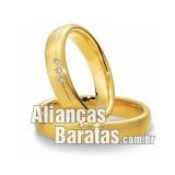 Alianças baratas em ouro amarelo barata