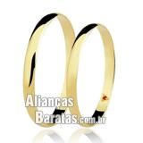 Alianças baratas em ouro 2.5mm