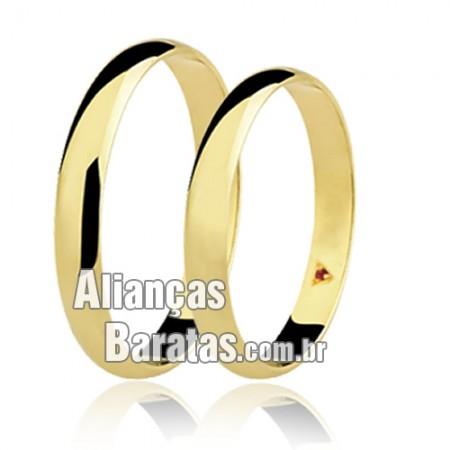 Alianças baratas de ouro com rubi