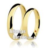 Alianças baratas em ouro de casamento