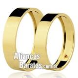 Alianças baratas 4mm em ouro com rubi