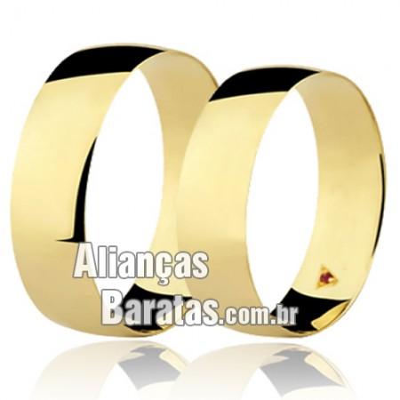 Alianças em ouro 18k baratas com rubi